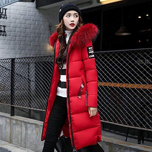 Doudoune Mince Cheveux Version Femmes Longue D'hiver Red Corps Chaud Collier Sauvage Guxiu De Grands Pour Froid Fashion Vêtements Lady VMGLUqSzp