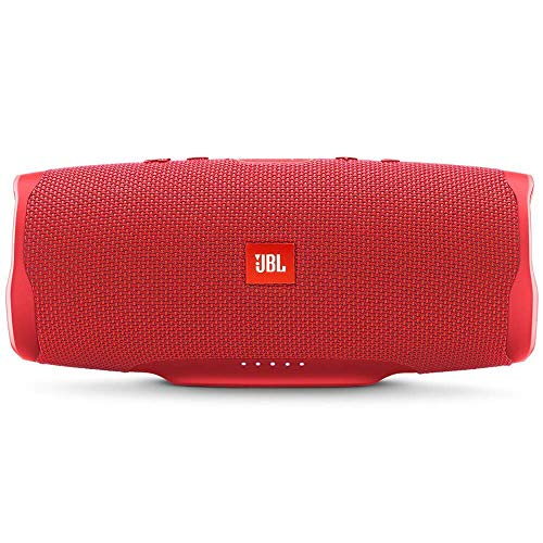 JBL Charge 4 Waterproof Portable Bluetooth Speaker with 20 Hour Battery – Red
