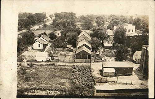 Birds Eye View of Town Kilbourne, Illinois Original Vintage Postcard