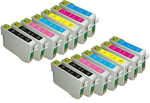 14 Pack Elite Supplies Remanufactured Inkjet Cartridge Replacement for epson T078, Compatible with Epson Stylus Photo RX580, R260, R380, R280, RX595, RX680, Artisan 50