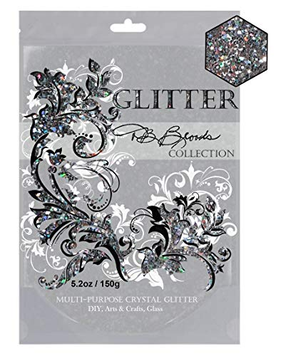 - DB Brooks Collection (Silver Holographic) Glitter Paint Additive Hybrid Crystals. 150g/5.2oz Latex Acrylic Emulsion for Walls Ceilings Wood Furniture Frames