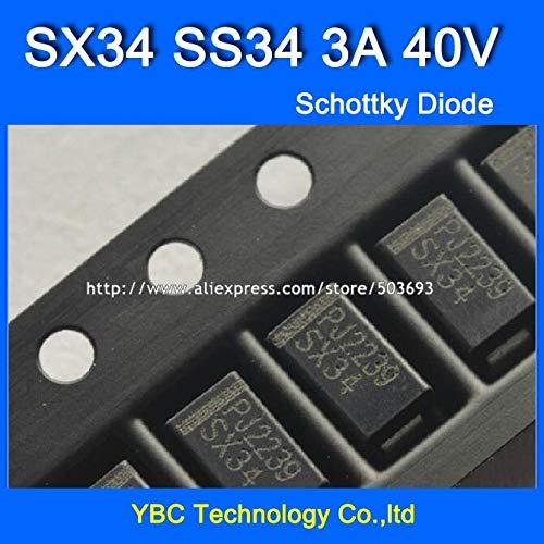 MAO YEYE 200pcs/lot SX34 SS34 3A/40V SMA 1N5822 Schottky Diode