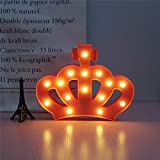 Tickos Crown LED Soft Light Beautiful Decoration Power Style Gifts For Kids Children Everyone (Pink)