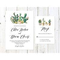 Succulent and Cactus Invitation, Watercolor Cactus Invitation, Arizona Invitation, Palm Springs Invitation