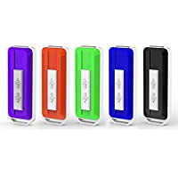 KOOTION 5PCS 32GB USB 2.0 Flash Drives Thumb Drives Memory Stick Side Sliding Retractable USB Drives (5 Mixed Colors: Black, Red, Blue, Green, Purple)