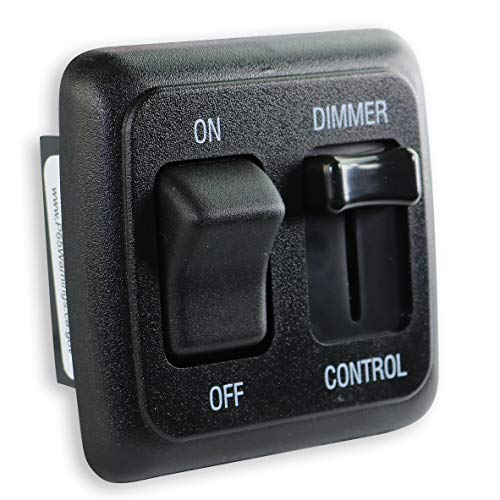 American Technology Components 12 Volt DC Dimmer Switch for LED, Halogen, Incandescent - RV, Auto, Truck, Marine, and Strip Lighting (Large Slider, Black)