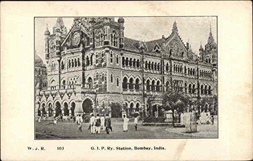 G. I. P. Ry Station Bombay Mumbai, India Original Vintage Postcard