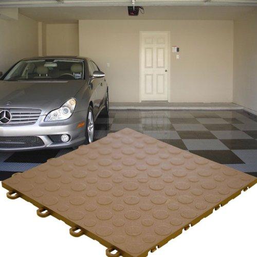 Modutile Garage Floor Tiles - 30 Pack, Coin, Brown