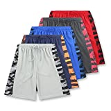 American Legend Mens Active Athletic Performance Shorts - Set 4-5 Pack, M