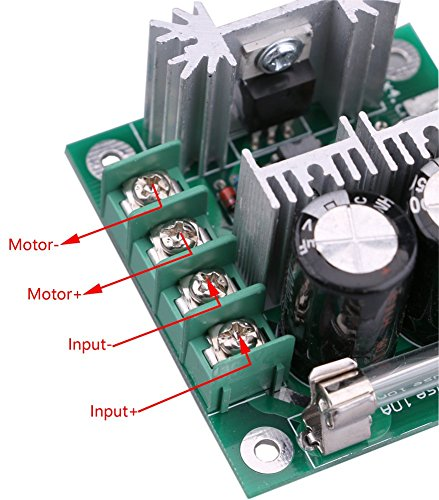 Yeeco dc motor speed controller 10v 40v 10a pwm controller for 24 volt dc motor speed controller