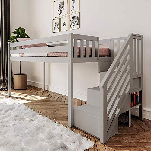Max & Lily , Low Loft + Staircase, Grey