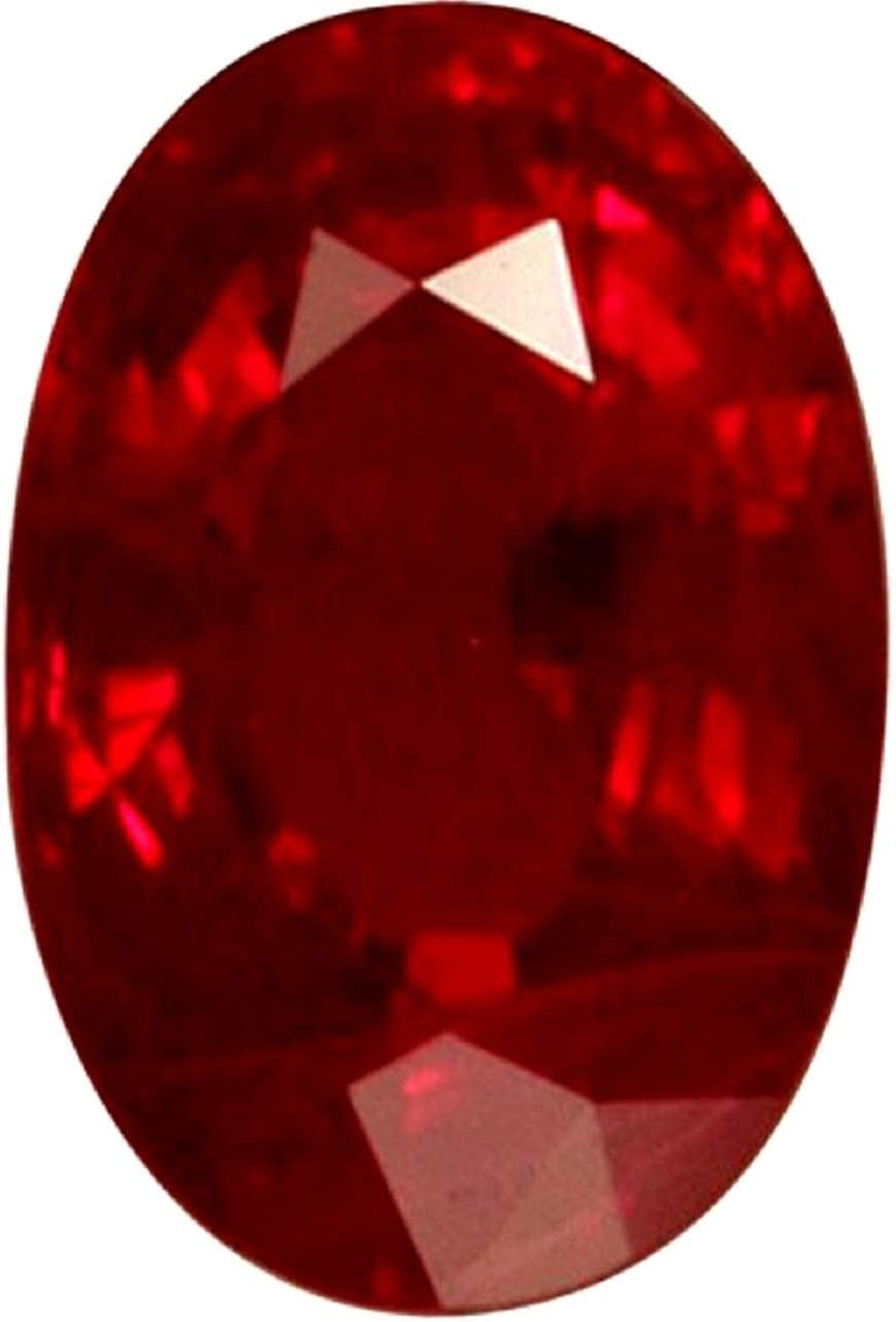 GEMS HUB Ruby//Manik 6.00-6.25 Carat Lab Certified Top Quality Natural Ruby Gemstone for Astrological Purpose