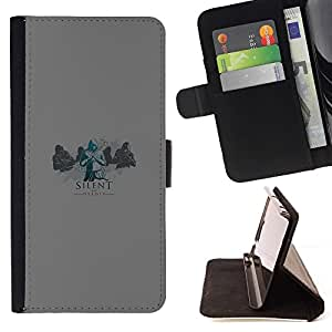 DEVIL CASE - FOR Samsung Galaxy S4 Mini i9190 - xxxx - Style PU Leather Case Wallet Flip Stand Flap Closure Cover