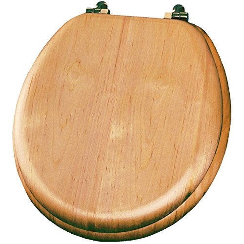 Natural Reflections Toilet Seat - Bemis 9601BR378 Natural Reflection Toilet Seat Wood Venner Natural Oak