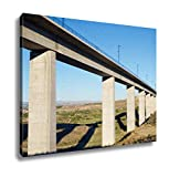 Ashley Canvas View Of A Highspeed Viaduct In Roden Zaragoza Aragon Spain Ave Madrid Barcelona Wall Art Decor Stretched Gallery Wrap Giclee Print Ready to Hang Kitchen living room home office, 24x30