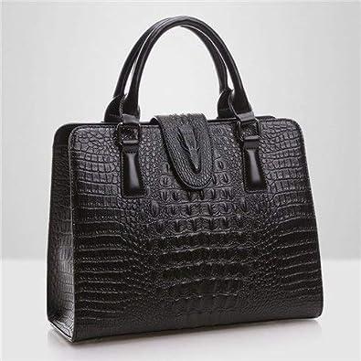 731e2cc9884 FoxTail & Lily Crocodile Pattern Genuine Leather Bag Women Shoulder ...