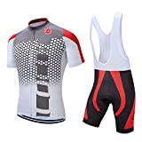 Pro Team Summer Men's Cycling Jersey Set Bib Shorts with 3D Padded Cycling