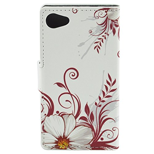 Beautiful & practical Patrón de flores horizontal Flip caja de cuero con titular y ranuras para tarjetas y cartera para Sony Xperia Z5 compacto / Z5 mini / E5803 / E5823 ( SKU : S-MLC-2931K ) S-MLC-2931L