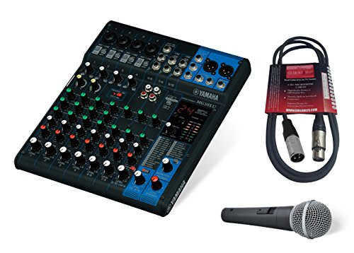 - Yamaha MG10XU 10-Channel Mixing Console Bundle with Pure Resonance Audio UC1S Microphone and Microphone Cable