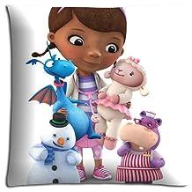"18x18 18""x18"" 45x45cm sofa pillow cases Polyester Cotton pre-shrunk ODORLESS Doc McStuffins"