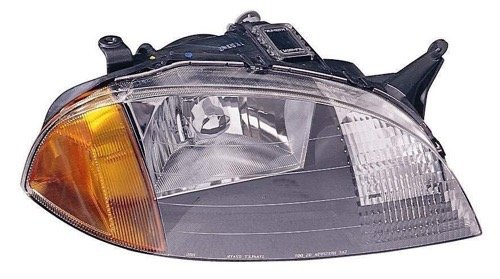 Go-Parts ª OE Replacement for 1998-2000 Pontiac Firefly Front Headlight Headlamp Assembly Front Housing/Lens/Cover - Right (Passenger) Side 91175606 GM2503166 for Pontiac Firefly