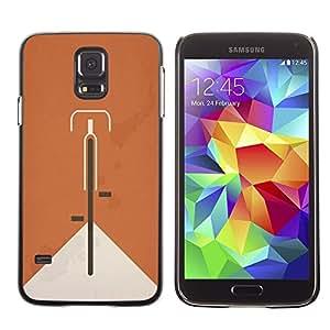 A-type Arte & diseño plástico duro Fundas Cover Cubre Hard Case Cover para Samsung Galaxy S5 (Bicycle Ginger Vintage Clean Minimalist)