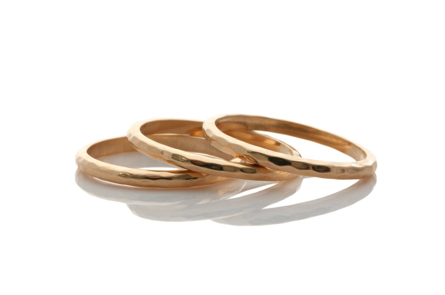Rose gold hammered rings, stackable rings, thin stacking rings, thin hammered band, thin band, rose gold filled band