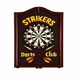 RAM Gameroom Products Dartboard Cabinet, ''Strikers Darts Club''