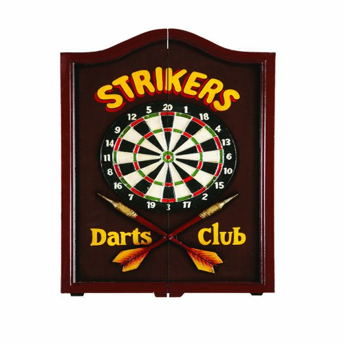 RAM Gameroom Products Dartboard Cabinet, ''Strikers Darts Club'' by RAM Gameroom