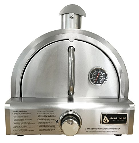 Mont Alpi MAPZ-SS Table Top Gas Pizza Oven, Large, Stainless (Outdoor Pizza)