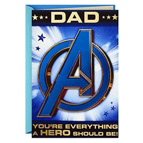 Hallmark Avengers Fathers Day Card for Dad (Hulk, Iron Man, Captain America)]()