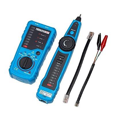 Kingwest RJ11 RJ45 Cat5 Cat6 Telephone Wire Tracker Tracer Toner Ethernet LAN Network Cable Tester Detector Line Finder