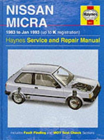 - Nissan Micra Service and Repair Manual (Haynes Service and Repair Manuals)