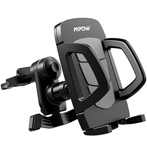 Mpow Car Phone Holder Car Vent Mount Cell Phone Mount with 360 Degrees Rotating Grip for iPhone X iPhone 8/8/8 Plus/7/7 Plus/6S/6 Plus 5S SE,Samsung Galaxy S8/S7/S6 edge/S6,LG G5/G4, GPS and Other Devices, Black