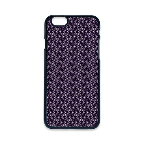 Phone Case Compatible with iPhone5 iPhone5s 2D Print Black Edge,Geometric,Pinwheel Design with Dark Color Palette Abstract Pattern Winter Motifs,Mauve Lavander Purple,Hard Plastic Phone Case