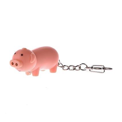 Gaiatop Llavero Linterna, Cerdo Animal Llavero de Seguridad ...