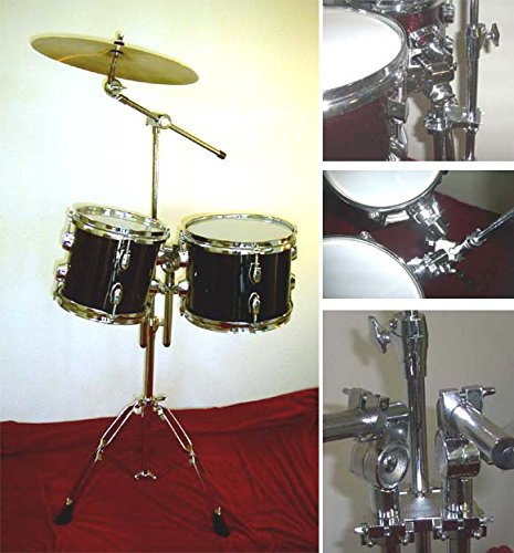 New BLACK 8''&10'' CONCERT TOMS DRUMS With HARDWARE.FREE 14'' CYMBAL ... by Hawk