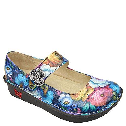 Brown Renaissance Shoes (Alegria Women's Renaissance Alegria Paloma Professional Print 37 M EU / 7-7.5 B(M) US)