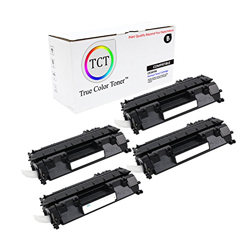 TCT Premium Compatible CE505A Black Toner Cartridge 4 Pack for the HP 05A series - 2,300 yield- works with the HP LaserJet P2030, P2035, P2035N, P2050, P2055D, P2055DN, P2055X printer (Laserjet 2300 Series Yield)