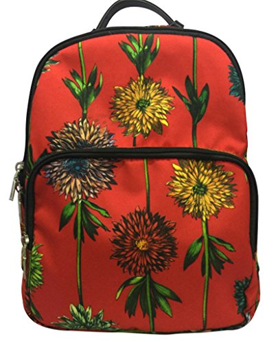 drasawee Miss Mädchen Nylon Verstellbare Strap Floral Schule College Schultern Rucksack Tasche Rucksack Rucksack Casual Tagesrucksack Gold Color9# 27*34*12cm Color6#