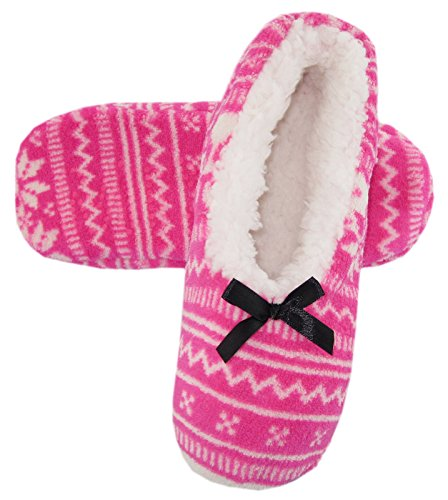 Lined Fleece Slipper Snowflake Socks Womens Sherpa 2pack Triangle Cozy qt7xvnzwn1