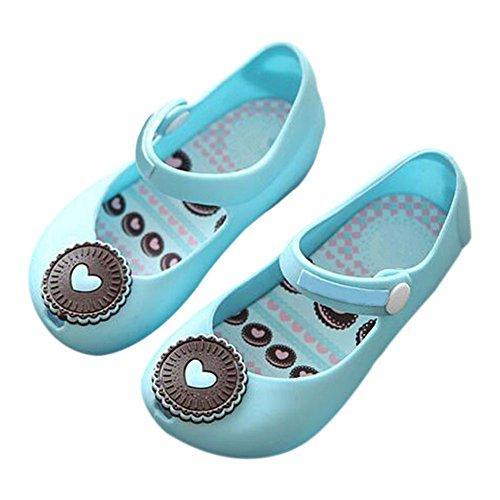 Zhuhaixmy Säugling Baby Mädchen Jungen Katze Anti-Rutsch Weich Gelee Fisch Mund Schuhe Kleinkind Kinder Strand Sandalen Regen Stiefel Blau