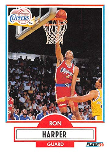 1990-91 Fleer Basketball #86 Ron Harper Los Angeles Clippers Official NBA Trading Card ()