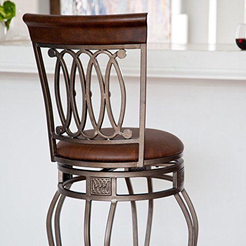 Hillsdale-Montello-Swivel-Counter-Stool-Old-Steel-Finish-with-Faux-Brown-Leather