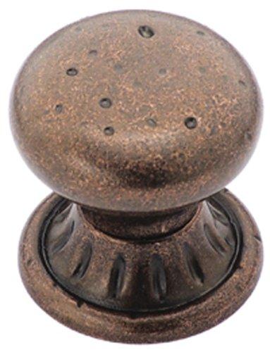 Amerock BP4485-RBZ Ambrosia Euro Stone Circle 1-1/4-Inch Diameter Knob, Rustic Bronze Amerock Ambrosia Knob