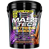 MuscleTech Mass Tech Extreme Mass Gainer Whey Protein Powder, Build Muscle Size & Strength with High-Density Clean Calories, Triple Chocolate Brownie, 22lbs (10kg)