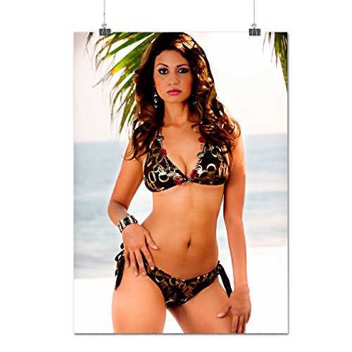 Sexy Beach Lady Woman Swimsuit Matte/Glossy Poster A1 (24x33 inches) | Wellcoda