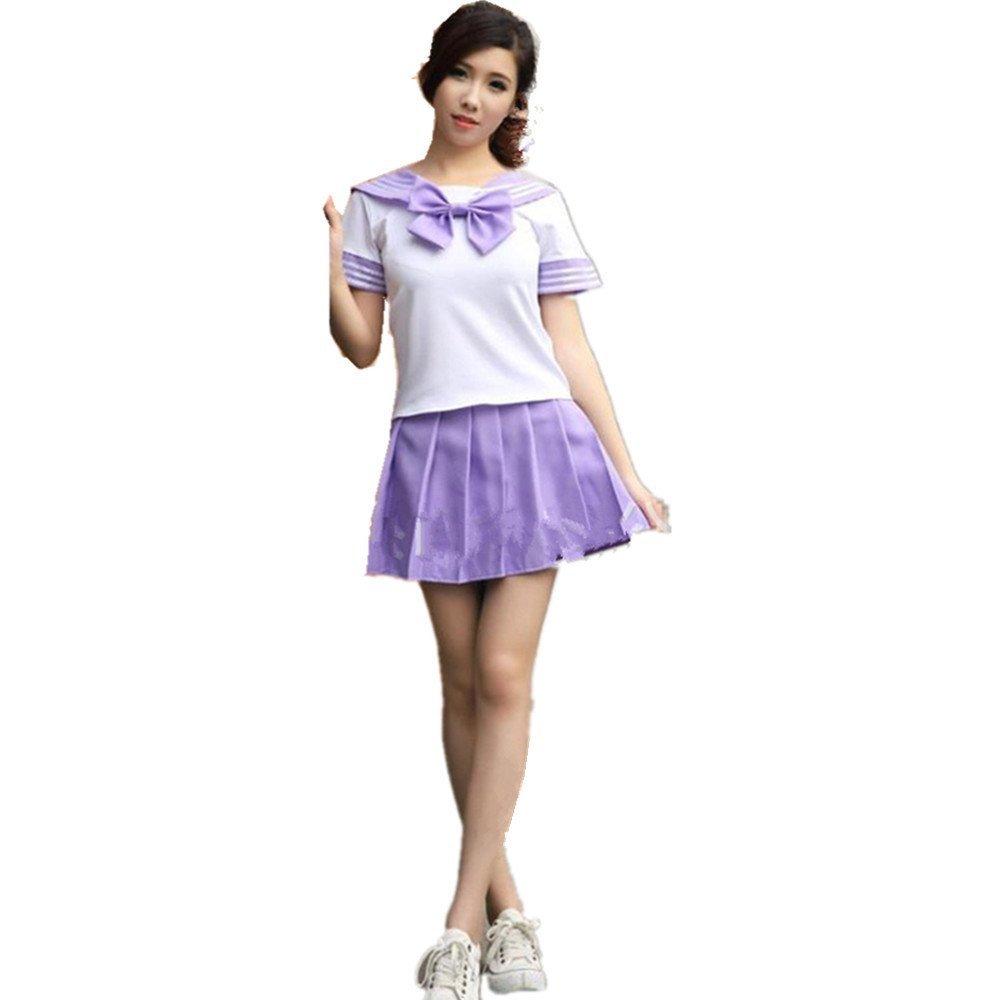 Vestido Encantador Del Traje Del Uniforme de La Escuela Uniforme Para la Criada de la Muchacha (L, Violeta): Amazon.es: Juguetes y juegos