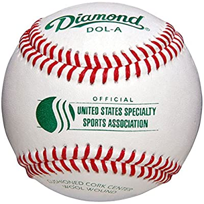Diamond Usssa Dol-A Leather Baseballs 12 Ball Pack