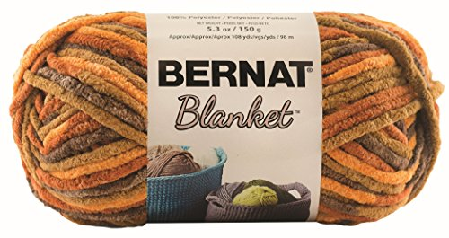 Yarn Leaf - Bernat Blanket SB Yarn - (6) Super Bulky Gauge  - 5.3oz -  Fall Leaves  -  Machine Wash & Dry